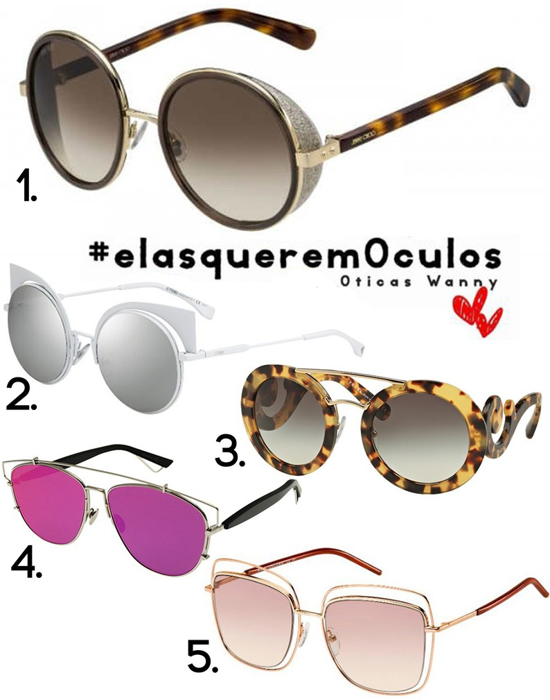 2) Óculos de Sol Fendi Eyeshine     Outros modelos Fendi 3) Óculos de Sol  Prada Barroco 13SS     Outros modelos Prada dc08efa6eaa4
