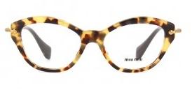 fa658b4437ac1 Óculos de grau Miu Miu 02OV Havana Amarelo