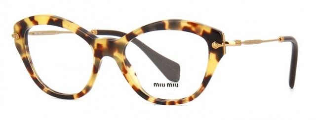 eb6bc2dec46ec Óculos de grau Miu Miu 02OV Havana Amarelo