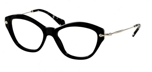 ea1fdf5255bed Óculos de grau Miu Miu 02OV Preto