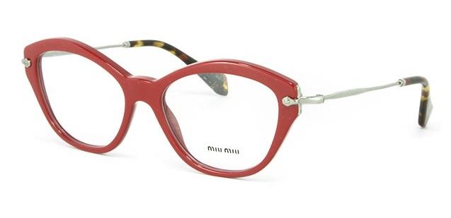 b8c25842262b2 Óculos de grau Miu Miu 02OV Vermelho