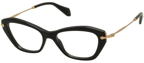61b97b5bfc69f Óculos de grau Miu Miu 04LV Preto
