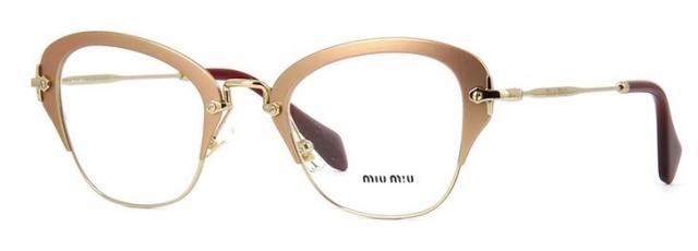4567fa0525eb1 Óculos de grau Miu Miu 53OV Nude