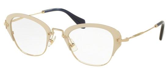 Óculos de grau Miu Miu 53OV Nude Preto 7ada35ce50