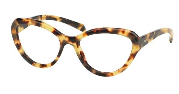 d8434f9783b0b Óculos de grau Prada 25RV Havana Amarelo