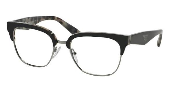 ce79a1285dd84 Óculos de grau Prada 30RV Havana Preto