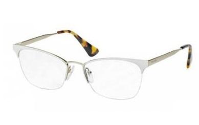 8c355d8e8ba8b Óculos de grau Prada 65QV Havana Branco