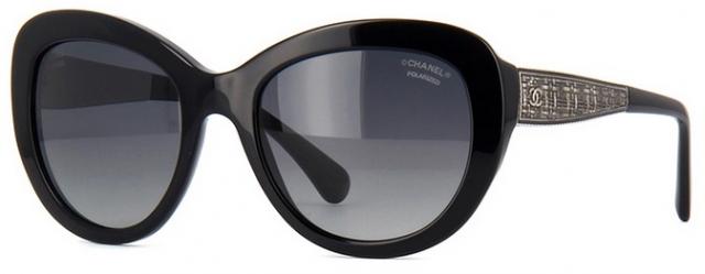 Óculos de sol Chanel Gatinho 5346 Preto 419860b416