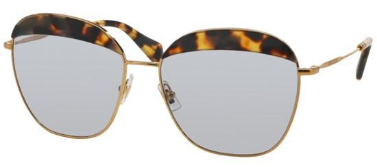 Óculos de sol Miu Miu 53QS Havana Amarelo fe2a9339c2