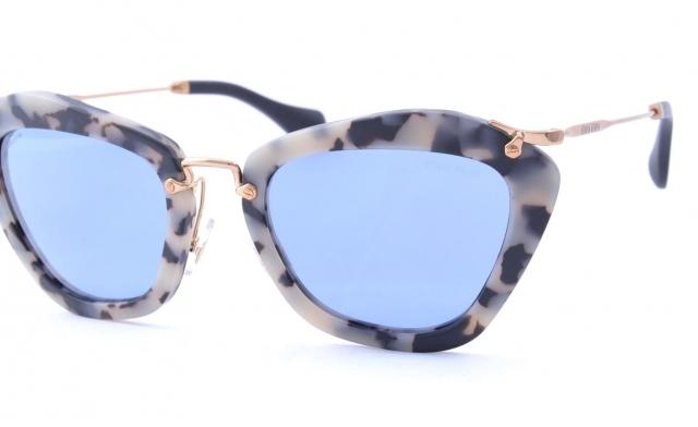 54ca0c0af879c Óculos de sol Miu Miu Noir 10NS Espelhado Azul