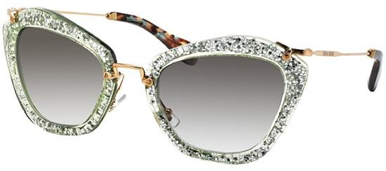 Óculos de sol Miu Miu Noir 10NS Glitter Verde 7cbc988cfb
