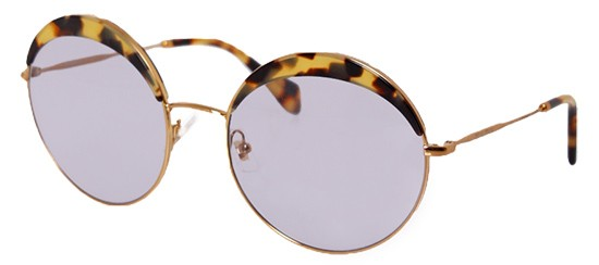 Óculos de sol Miu Miu Noir 51QS Havana Amarelo 643e6823ad