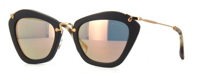 0c569962b2217 Óculos de sol Miu Miu Noir 10NS Preto Dourado