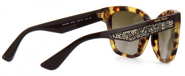 Óculos de sol Miu Miu Pavé Story 06RS Strass ecf392b211