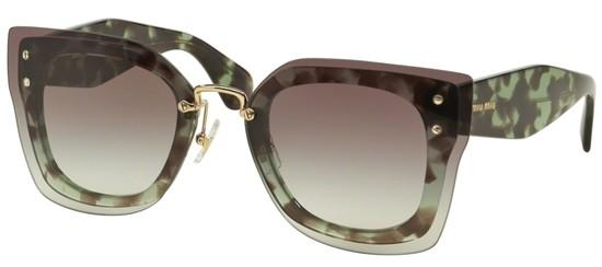 e460d27f143cf Óculos de sol Miu Miu Reveal 04RS Verde