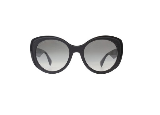 98f52e1f814ed Óculos de sol Prada 12PS Gatinho Preto