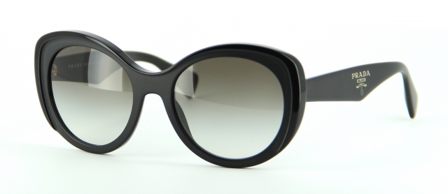 fecd1eefd49a9 Óculos de sol Prada 12PS Gatinho Preto