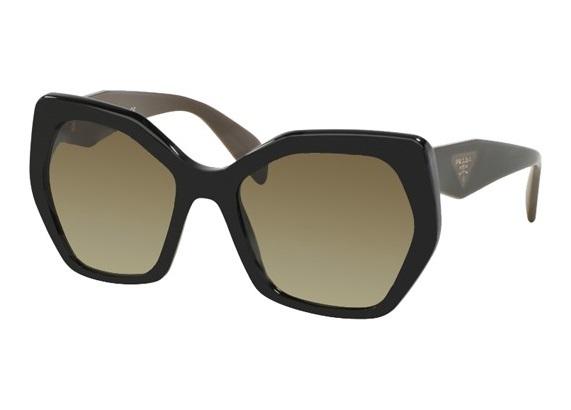 0e5a74ae65f48 óculos de sol Prada 16RS Marrom