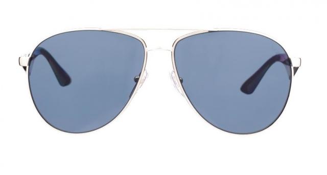 4e15cf85a6789 Óculos de sol Prada Aviador 53QS Dourado Polarizado