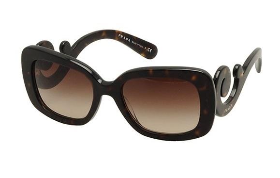 8f04dc1be5a1e Óculos de sol Prada Baroque 27OS Tartaruga