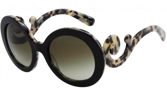 88af37cb553a9 Óculos de sol Prada Baroque 27NS Havana Branco