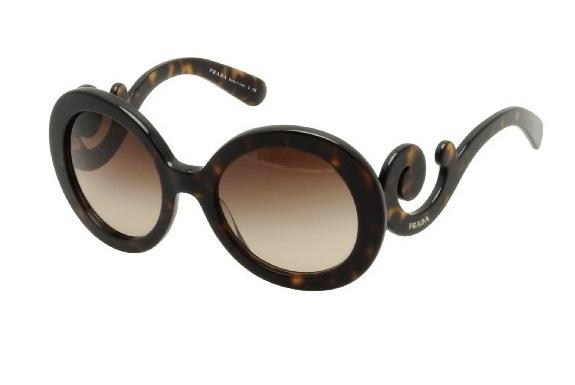 506bab26aa295 Óculos de sol Prada Baroque 27NS Tartaruga