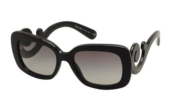 bb2ff943d63ce Óculos de sol Prada Baroque 27OS Preto