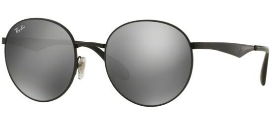Óculos de sol Ray Ban Round 3537 Preto Cinza cea6647b16