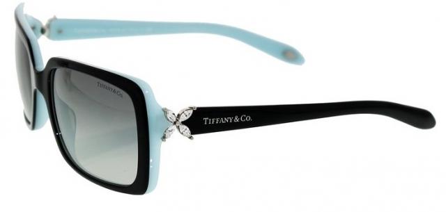 Óculos de sol Tiffany e Co. 4047B Strass Preto Turquesa 814a49dbb3