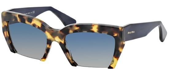 Óculos de sol Miu Miu Rasoir 11OS Havana Azul 554db66aa2