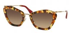e5ecef64b151b Óculos de sol Miu Miu 10NS Havana Vermelho